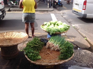 Small market gardeners sell their produce directly to market.