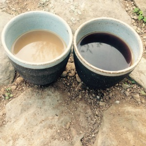 Two different Sides to a Cup of Coffee